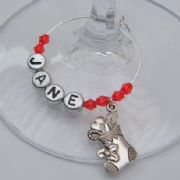 Large Christmas Stocking Personalised Wine Glass Charm